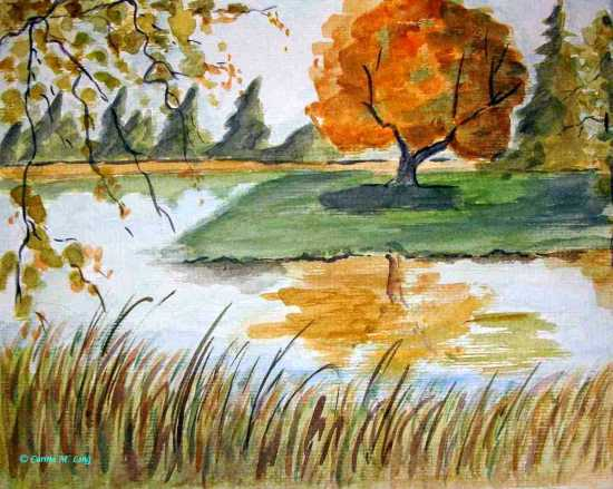 Carina M. Ling - Herbst am See