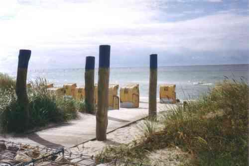 Manchmal muß man dem Strand einen Korb geben - meer als einem lieb ist ...